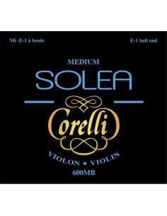 600MB Set Corde Violino Solea Corelli, Tensione Media, ball end