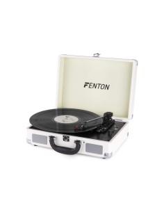 FENTON RP115D Giradischi USB Bluetooth bianco con altoparlanti integrati