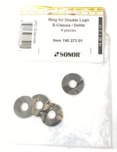 Sonor 19027301 Guarnizioni per Tiranti Doppi S-Classix e Delite 04 pezzi