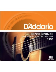 D'addario EJ10 80-20 Bronze Acoustic Extra Light 10-47