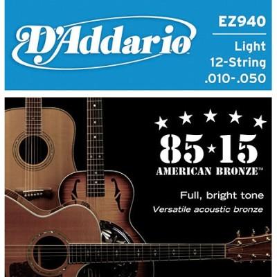D'addario EZ940 Muta per chitarra acustica 12 corde 10-50