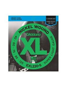 D'Addario Bass XL EXL220-5 40-125