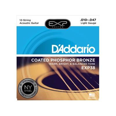 D'Addario EXP38 Acustica 010 per 12 Corde
