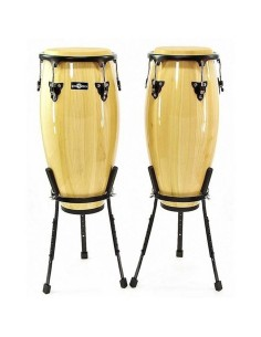 """10"""" & 11"""" Congas w/ Basket Stands Green"""