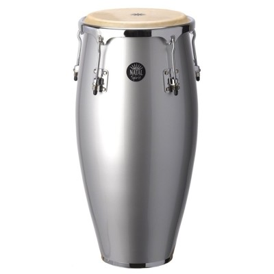 """10"""" & 11"""" Congas w/ Basket Stands Metallic Silver"""