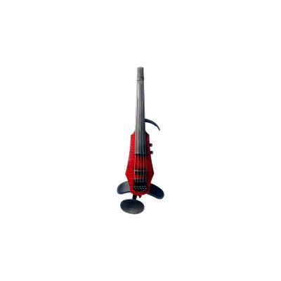 WAV Electric Violin 5 Trasparent Red