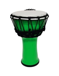 """DJPVC7-GR Djembe PVC 7"""" Verde Fluo"""