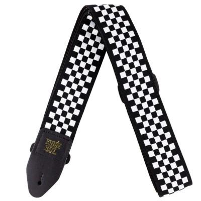 4149 Tracolla Black and White Checkered Jacquard