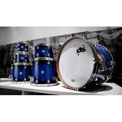 DS Drum Rebel Custom Shop Maple/Mahogany Black Burst to Blue Double Lacquer 22-8-10-12-14-16