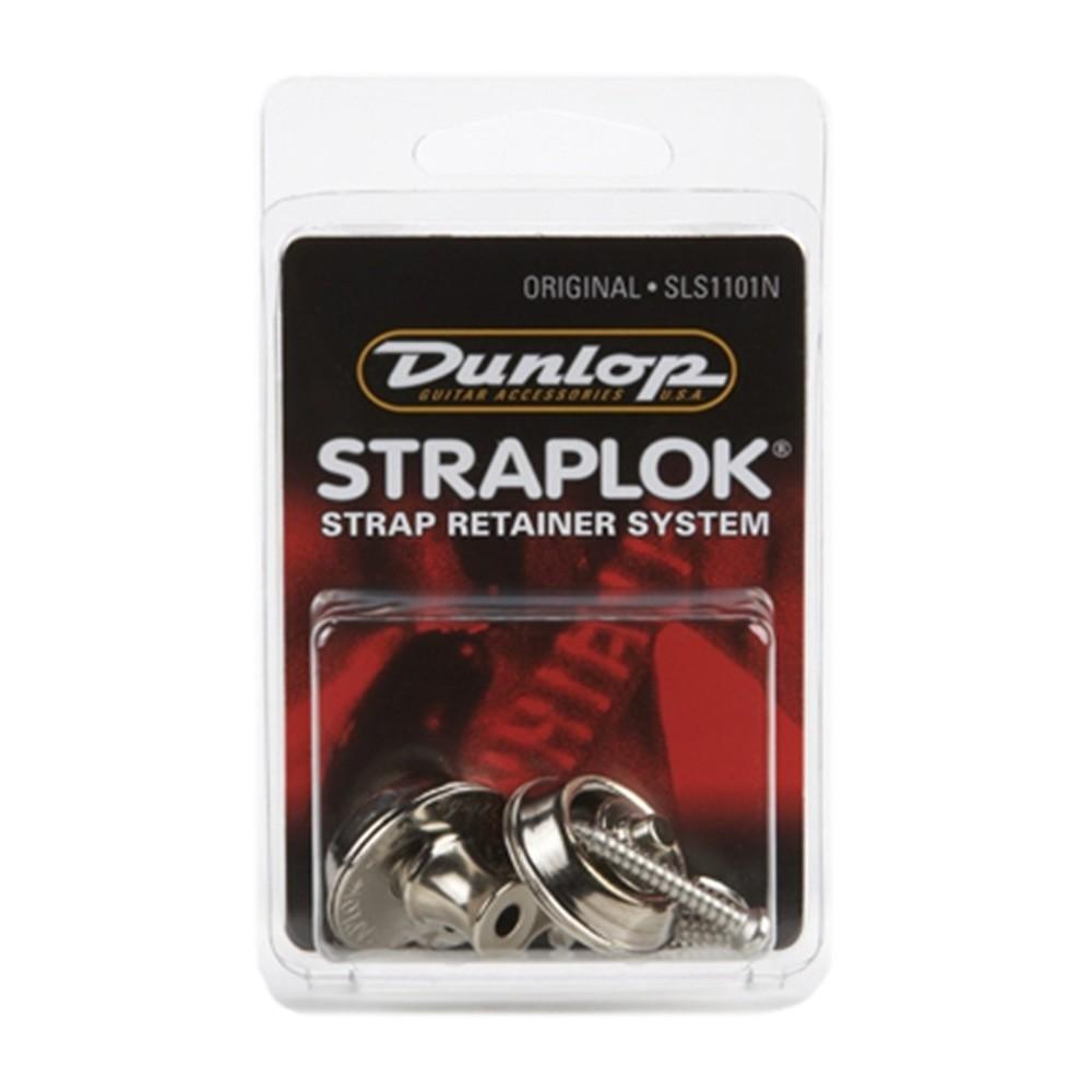 Dunlop SLS1101N Straplok Original Strap Retainer System, Nickel