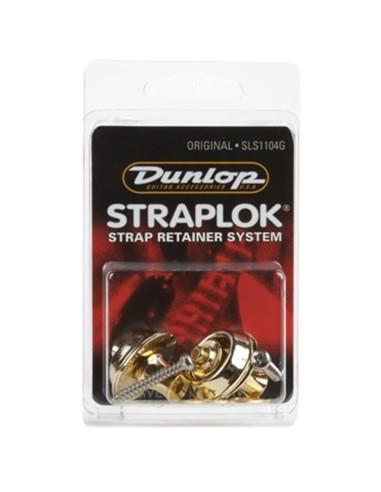 Dunlop SLS1104G Straplok Original Strap Retainer System Gold