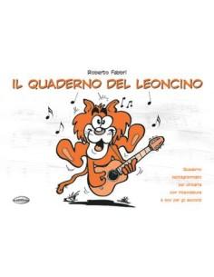 Il quaderno del Leoncino quaderno pentagrammato per chitarra