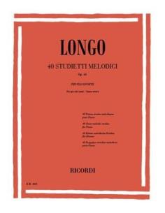 Longo - 40 Studietti Melodici Per Piccole Mani