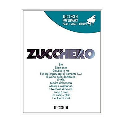 Zucchero - Raccolta di successi per piano voce e chitarra