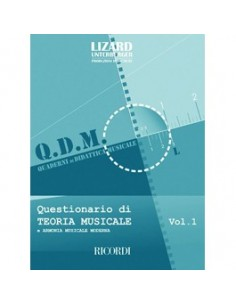 Lizard QDM - Questionario di teoria Musicale e Armonia Musicale Moderna Vol.1
