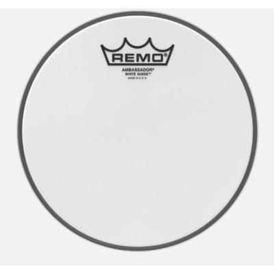 Remo BA-0808-WS Ambassador White Suede 8