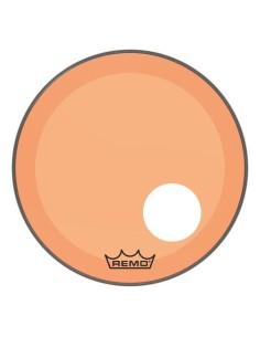 Remo P3-1324-CT-OGOH Powerstroke 3 Pelle Risonante per Grancassa con Foro da 24 Orange