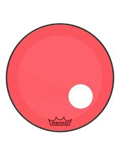 Remo P3-1324-CT-RDOH Powerstroke 3 Pelle Risonante per Grancassa con Foro da 24 Rossa