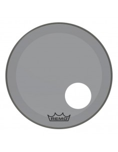 Remo P3-1324-CT-SMOH Powerstroke 3 Pelle Risonante per Grancassa con Foro da 24 Smoke