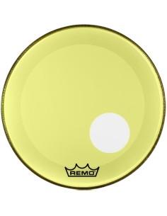 Remo P3-1320-CTYEOH Powerstroke 3 Colortone Risonante con Foro Off Set da 20 Giallo
