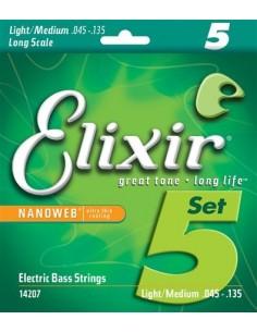 Elixir 14207 Nanoweb 5-Strings 45-135