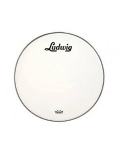 Ludwig LW1222P3SWV Pelle Per Grancassa Da 18 Smooth White Con Logo Vintage Nero