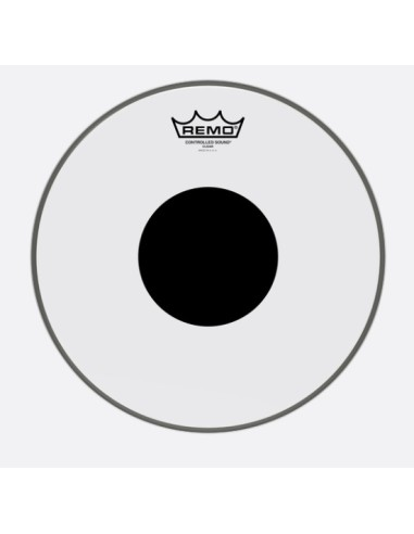 Remo CS-0312-10 Controlled Sound Top Black Dot Clear 12