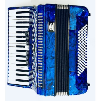 Dam Fisarmonica 96 bassi 37 voci 3/5 Blu con Custodia