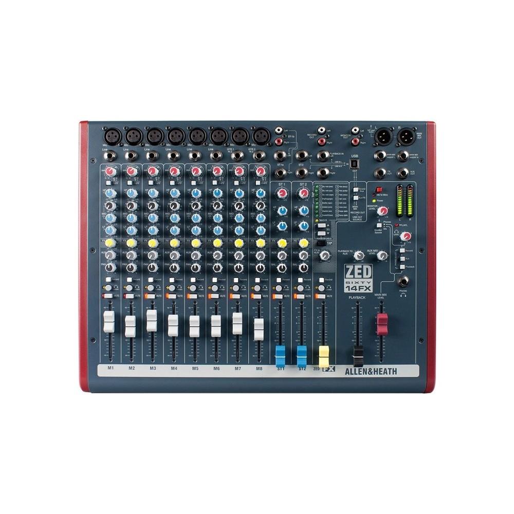 Allen & Heat ZED60 14FX Mixer USB 14 ingressi con effetti