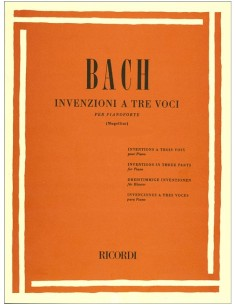 BACH INVENZIONI A TRE VOCI PER PIANOFORTE