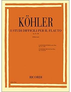Ernesto Köhler 15 Studi per Flauto op 33 Vol.1