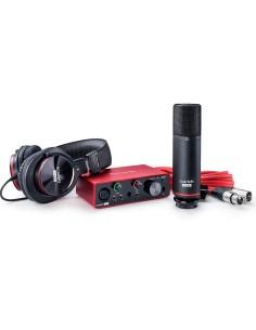 Focusrite Scarlett Solo Studio 3rd Gen. PACK CON INTERFACCIA AUDIO USB, MICROFONO A CONDENSATORE E CUFFIA PROFESSIONALE