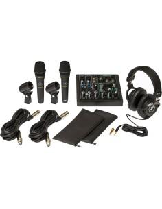 Mackie Performer Bundle Kit Con Mixer 6 Canali, 2 Microfoni Per Voce, Cuffia Professionale