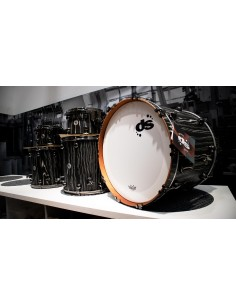 DS Drum Rebel Custom Shop All Maple shells - Black Zebra SS finish