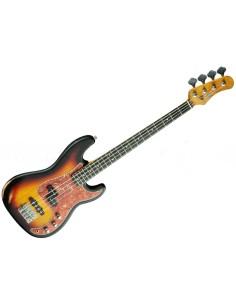 EKO PJ Bass Relic Sunburst