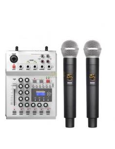 Audiodesign PAMX2.12/2UHF-2 Sistema Wireless UHF 16+16 Ch, 2 Radiomicrofoni e mixer con effetti