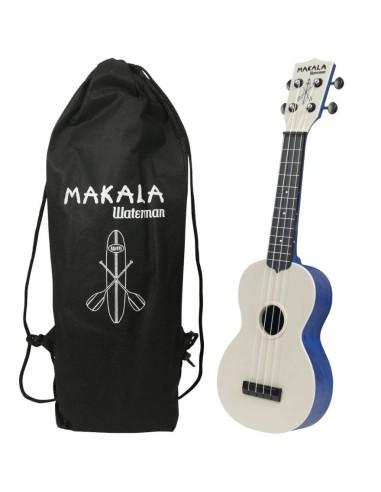 Kala MK-SWS/BL Ukulele Soprano Waterman Swirl Blue in ABS con Custodia