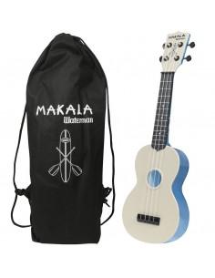 Kala MK-SWT/BL Ukulele Soprano Waterman Lucido Blu in ABS con Custodia