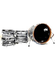 DS Drum Rebel All Maple Urban Grey White over Black 20-10-12-14 OFFERTISSIMA FINO AD ESAURIMENTO!!!!