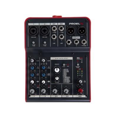 Proel MQ6FX Mixer 6 Canali con Effetti