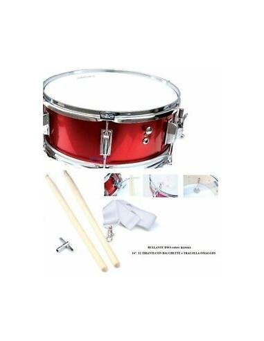 Mercury Rullante da Banda 14X5,5 Rosso Completo di Tracolla e bacchette