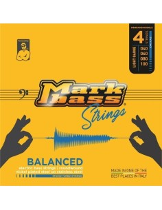 Markbass MB4BANS45105LS nickel plated steel on stainless steel STUDIO TUNED STRINGS - 045 065 085 105