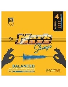 Markbass MB5BANS40120LS nickel plated steel on stainless steel STUDIO TUNED STRINGS - 040 060 080 100 120