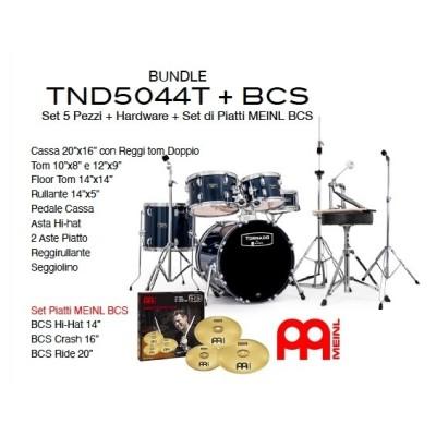Mapex Tornado TND5044TDR con Piatti Meinl BCS