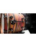 DS Drum Rebel Maple/Birch Urban Orange/Scarlet over Black - Solid Satin 24-13-16-18