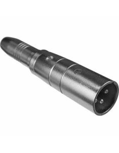 Proel AT320 Adattatore professionale in metallo: spina XLR 3 poli - presa jack mono Ø 6.3 mm.