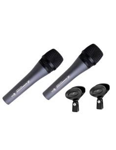 SENNHEISER e835 Kit 2 microfoni con accessori