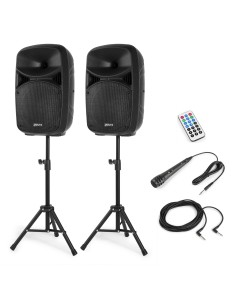 Vonyx VPS102A Plug & Play 600W Speaker Set con Supporti